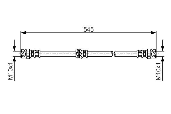 Flexible de frein BOSCH 1 987 481 302 (X1)