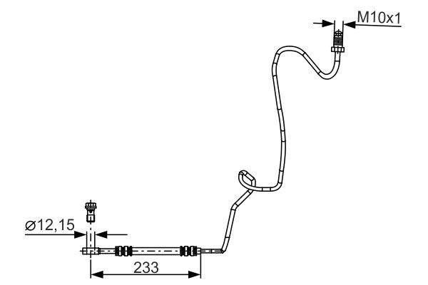 Flexible de frein BOSCH 1 987 481 339 (X1)