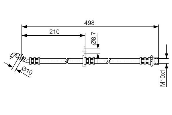 Flexible de frein BOSCH 1 987 481 380 (X1)