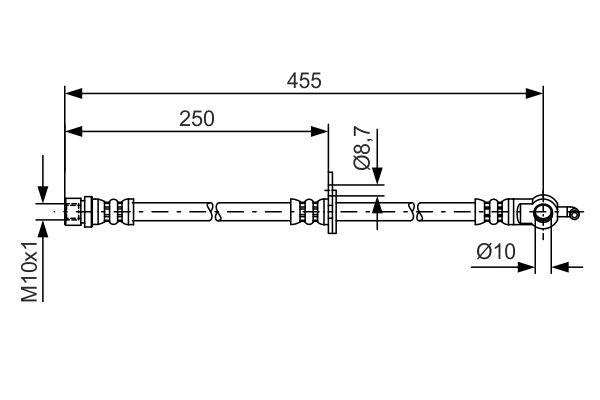 Flexible de frein BOSCH 1 987 481 389 (X1)