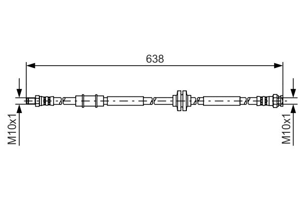 Flexible de frein BOSCH 1 987 481 399 (X1)