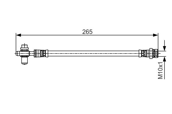 Flexible de frein BOSCH 1 987 481 518 (X1)