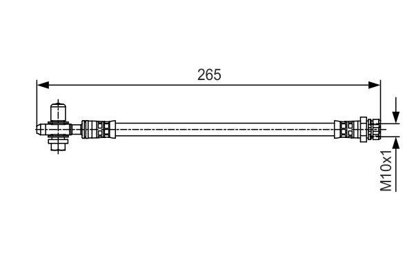 Flexible de frein BOSCH 1 987 481 519 (X1)