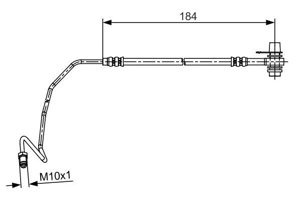 Flexible de frein BOSCH 1 987 481 534 (X1)
