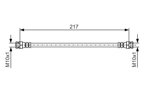 Flexible de frein BOSCH 1 987 481 556 (X1)