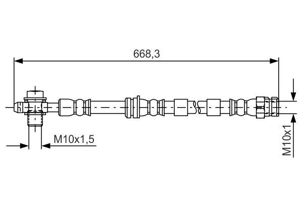 Flexible de frein BOSCH 1 987 481 693 (X1)