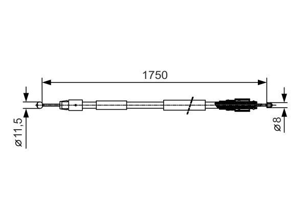 Cable de frein à main BOSCH 1 987 482 018 (X1)