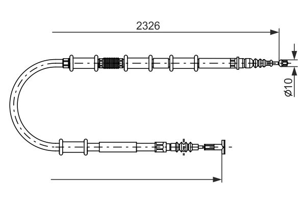 Cable de frein à main BOSCH 1 987 482 185 (X1)