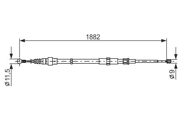 Cable de frein à main BOSCH 1 987 482 193 (X1)