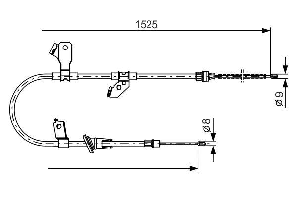 Cable de frein à main BOSCH 1 987 482 247 (X1)