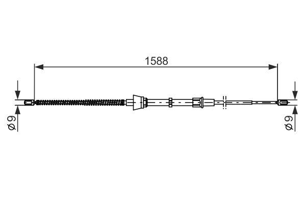 Cable de frein à main BOSCH 1 987 482 266 (X1)