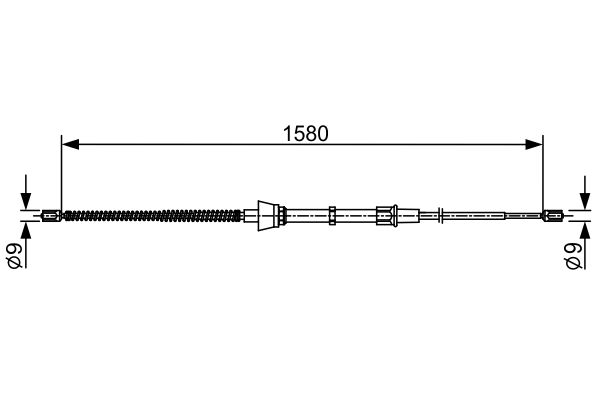 Cable de frein à main BOSCH 1 987 482 446 (X1)