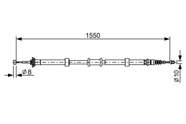 Cable de frein à main BOSCH 1 987 482 527 (X1)