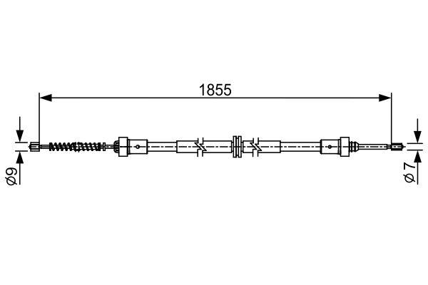 Cable de frein à main BOSCH 1 987 482 546 (X1)