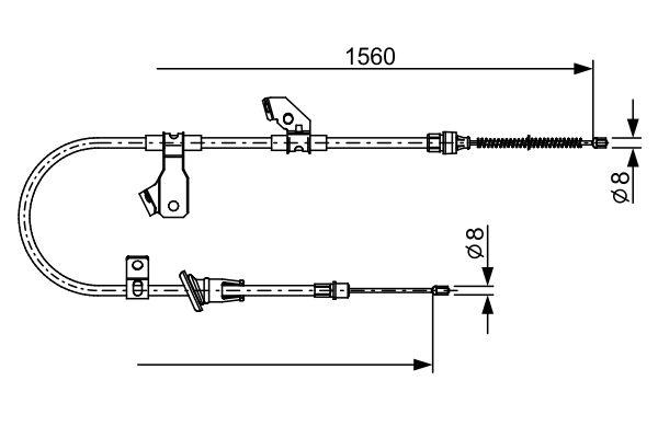 Cable de frein à main BOSCH 1 987 482 626 (X1)