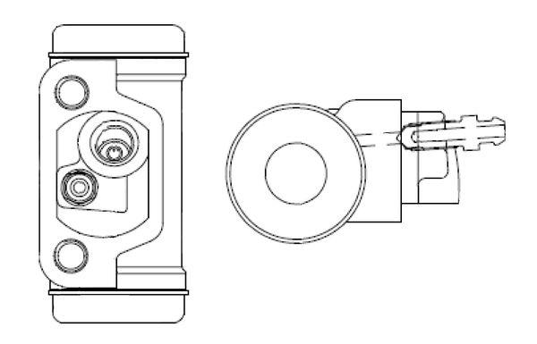Kit de cylindres de roue BOSCH F 026 002 357 (X1)