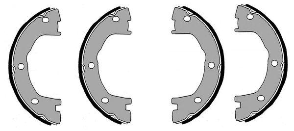 Jeu de mâchoires de frein de frein à main BOSCH F 026 008 001 (X1)