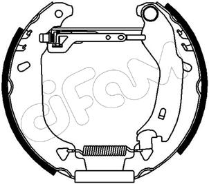 kit de frein arrière simple ou prémonté CIFAM 151-024 (X1)