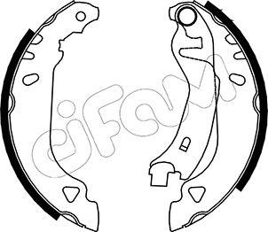 kit de frein arrière simple ou prémonté CIFAM 153-066 (Jeu de 4)
