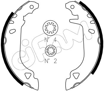 kit de frein arrière simple ou prémonté CIFAM 153-066J (Jeu de 4)