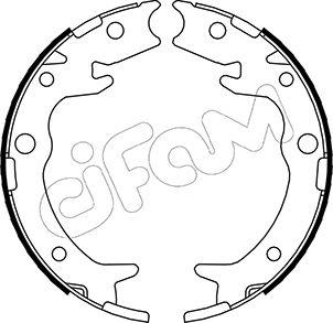 Jeu de mâchoires de frein de frein à main CIFAM 153-159 (Jeu de 4)