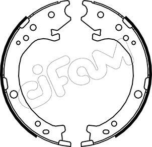 Jeu de mâchoires de frein de frein à main CIFAM 153-161 (Jeu de 4)
