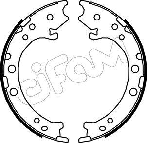 Jeu de mâchoires de frein de frein à main CIFAM 153-162 (Jeu de 4)