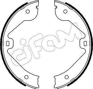 Jeu de mâchoires de frein de frein à main CIFAM 153-244 (Jeu de 4)