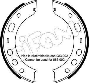 Jeu de mâchoires de frein de frein à main CIFAM 153-336 (Jeu de 4)