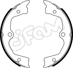 Jeu de mâchoires de frein de frein à main CIFAM 153-495 (Jeu de 4)