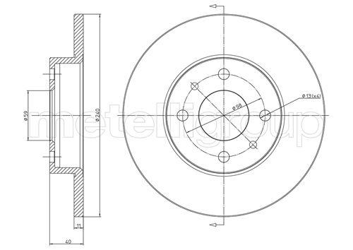 Disque de frein CIFAM 800-232C (Jeu de 2)
