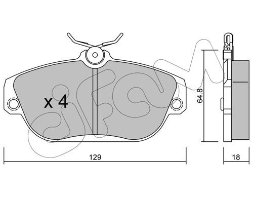 Plaquettes de frein avant CIFAM 822-132-0 (Jeu de 4)