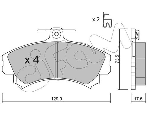 Plaquettes de frein avant CIFAM 822-216-1 (Jeu de 4)