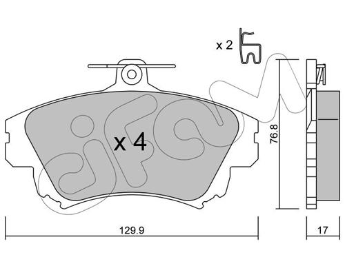 Plaquettes de frein avant CIFAM 822-286-0 (Jeu de 4)