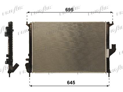 Radiateur de refroidissement FRIGAIR 0109.3105 (X1)