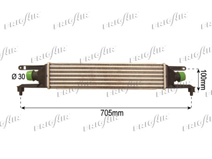 Intercooler radiateur de turbo FRIGAIR 0704.3123 (X1)