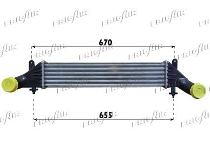 Intercooler radiateur de turbo FRIGAIR 0706.3004 (X1)