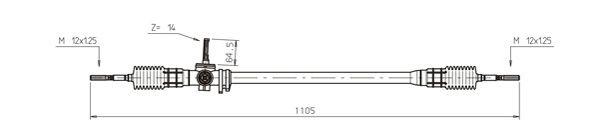 Cremaillere de direction GENERAL RICAMBI RV4016 (X1)