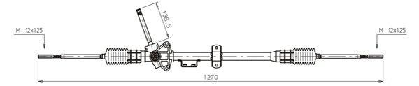 Cremaillere de direction GENERAL RICAMBI RV4017 (X1)