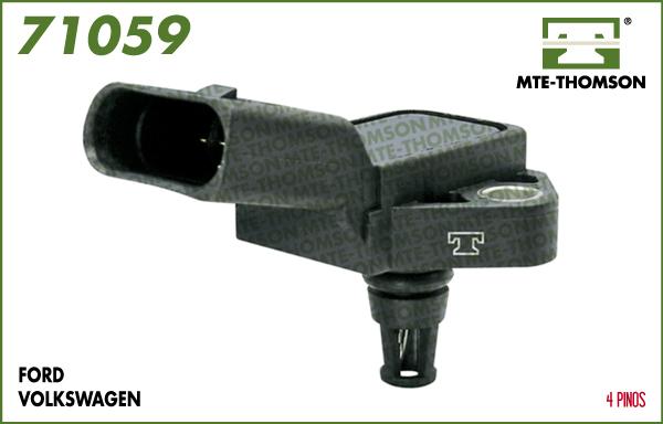 Capteur, pression du tuyau d'admission MTE-THOMSON 71059 (X1)