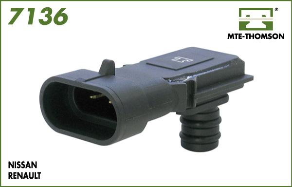 Capteur, pression du tuyau d'admission MTE-THOMSON 7136 (X1)