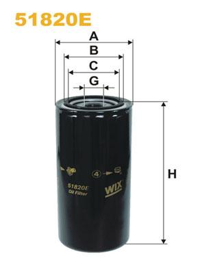 Filtre a huile WIX FILTERS 51820E (X1)