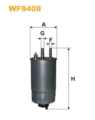 Filtre a carburant WIX FILTERS WF8408 (X1)