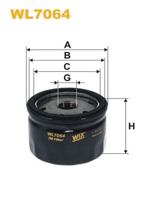 Filtre a huile WIX FILTERS WL7064 (X1)