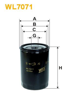Filtre a huile WIX FILTERS WL7071 (X1)