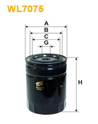Filtre a huile WIX FILTERS WL7075 (X1)