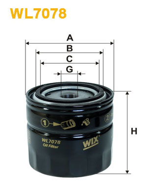 Filtre a huile WIX FILTERS WL7078 (X1)
