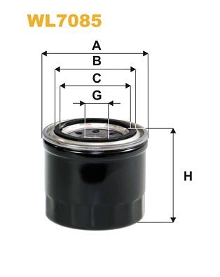 Filtre a huile WIX FILTERS WL7085 (X1)
