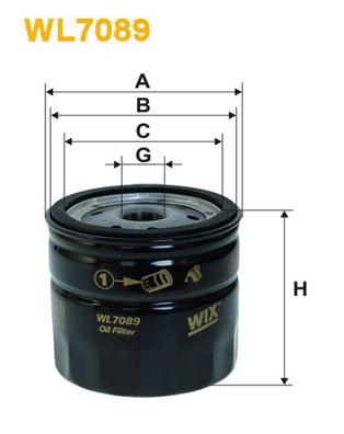 Filtre a huile WIX FILTERS WL7089 (X1)