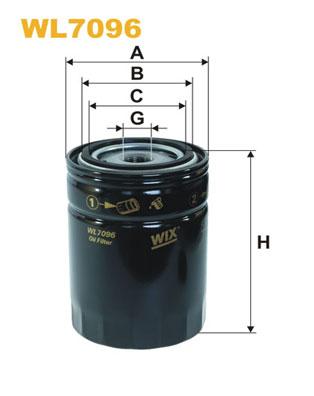 Filtre a huile WIX FILTERS WL7096 (X1)